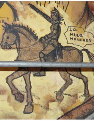 LA MULA MANEADA  (MANIADA, MANEÁ O MANIÁ)